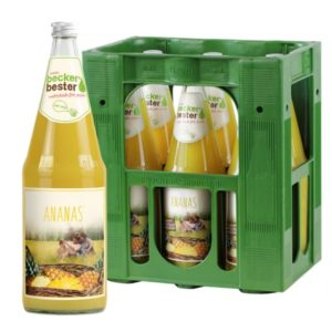 Beckers Bester Ananas 6x 1L (GLAS)