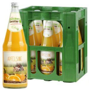 Beckers Bester Apfelsine 6x 1L (GLAS)