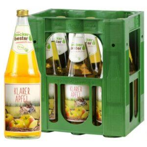 Beckers Bester Apfel Klar 6x 1L (GLAS)