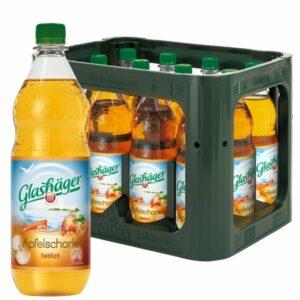 Glashäger Apfelschorle lieblich 1,0L im 12er Kasten