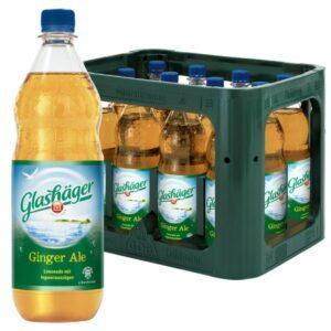 Glashäger Ginger Ale 1,0L PET im 12er Kasten