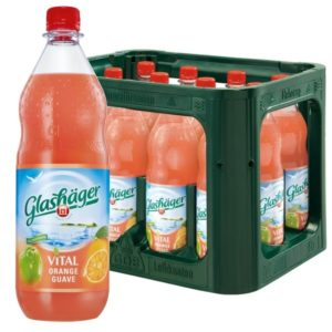 Glashäger Vital Orange-Guave 1,0L PET im 12er Kasten