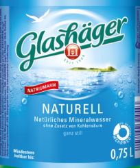 Glashäger Naturell 0,75L Glas im 12er Kasten