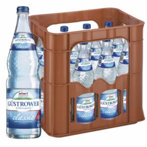 Güstrower Schlossquell Classic 0,7L Glas im 12er Kasten