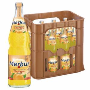 Merkur Orangen Limonade 0,7L Glas im 12er Kasten