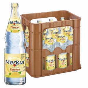 Merkur Zitronen Limonade 0,7L Glas im 12er Kasten