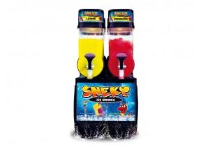 Frozen Jack 2x10 l Slushmaschine Slush Eis Maschine mit Edelstahl-Front, Express-Version