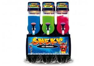 Frozen Jack 3x10 l Slushmaschine Slush Eis Maschine mit Edelstahl-Front, Express-Version